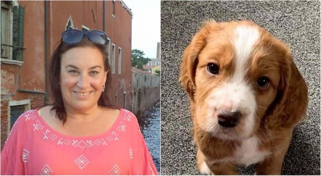 Right, Luka, owned Michelle Boyd, left, who has started a petition calling for stronger penalties against dog theft in Scotland after concern for her own welfare grew while out walking a new puppy she got just seven months ago.