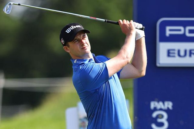 David Law during the Porsche European Open at Green Eagle Golf Course in Hamburg. Picture: Christof Koepsel/Getty Images.