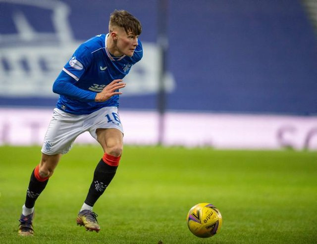 Rangers' Nathan Patterson in action during a Scottish Premiership match between Rangers and Ross County at Ibrox, on January 23, 2021, in Glasgow, Scotland. (Photo by Rob Casey / SNS Group)