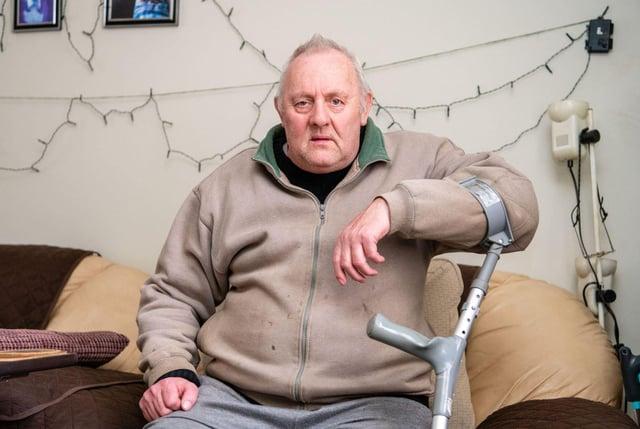 George Watt says the temperature regularly dips below zero in his home since the window  became broken.