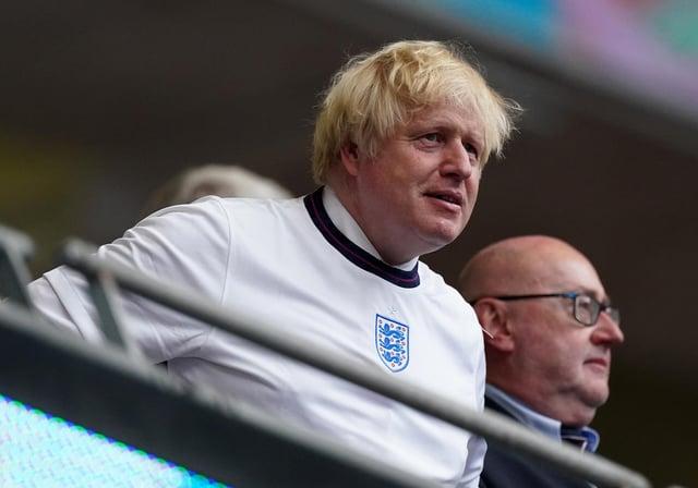 Prime Minister Boris Johnson during the UEFA Euro 2020 Final at Wembley Stadium, London.