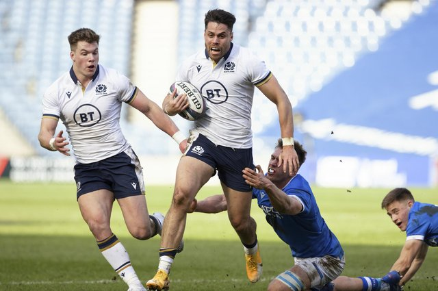 Sean Maitland has been left out of the Scotland squad for the match in France. Picture: Craig Williamson/SNS