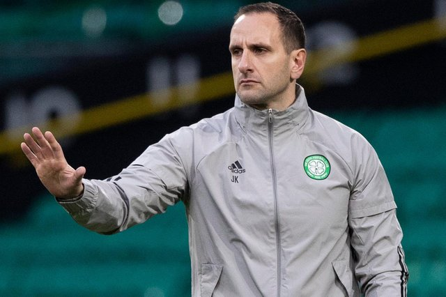 Celtic interim manager John Kennedy says, hands-down, his club were not arrogant over expectations this season, as suggested by former Rangers chairman Dave King after his club prevented them claiming a record 10th straight title. (Photo by Craig Williamson / SNS Group)