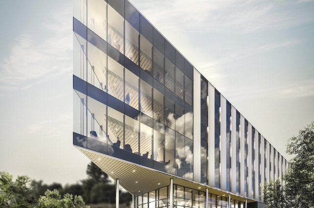 The BDP-designed BioHub in Aberdeen will feature a distinctive triangular layout, providing 'efficient lab and office accommodation with good daylight'.