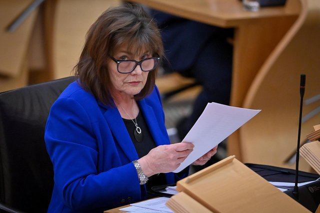 Health Secretary Jeane Freeman addresses MSPs in the Scottish Parliament, Edinburgh.