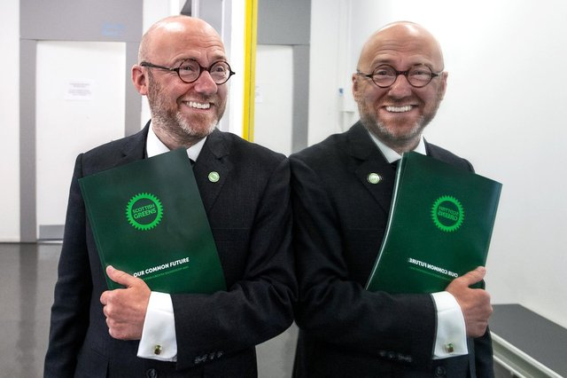 Scottish Greens co-leaders Patrick Harvie and Lorna Slater launched the Scottish Greens Scottish election manifesto during an election event held at SWG3 Studio Warehouse.