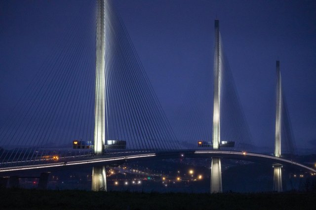 The Queensferry Crossing was closed for four hours last Friday because of the risk of falling ice. Picture:  Katielee Arrowsmith/SWNS