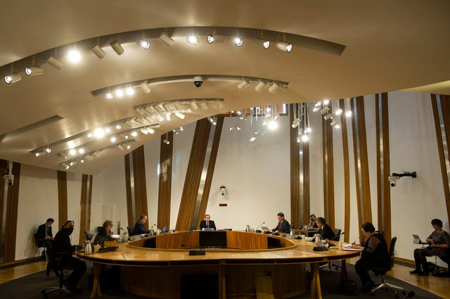 Alex Salmond makes his opening statement to the Scottish Parliament committee examining the government's handling of harassment allegations against him. (Picture: Andy Buchanan/Getty Images)