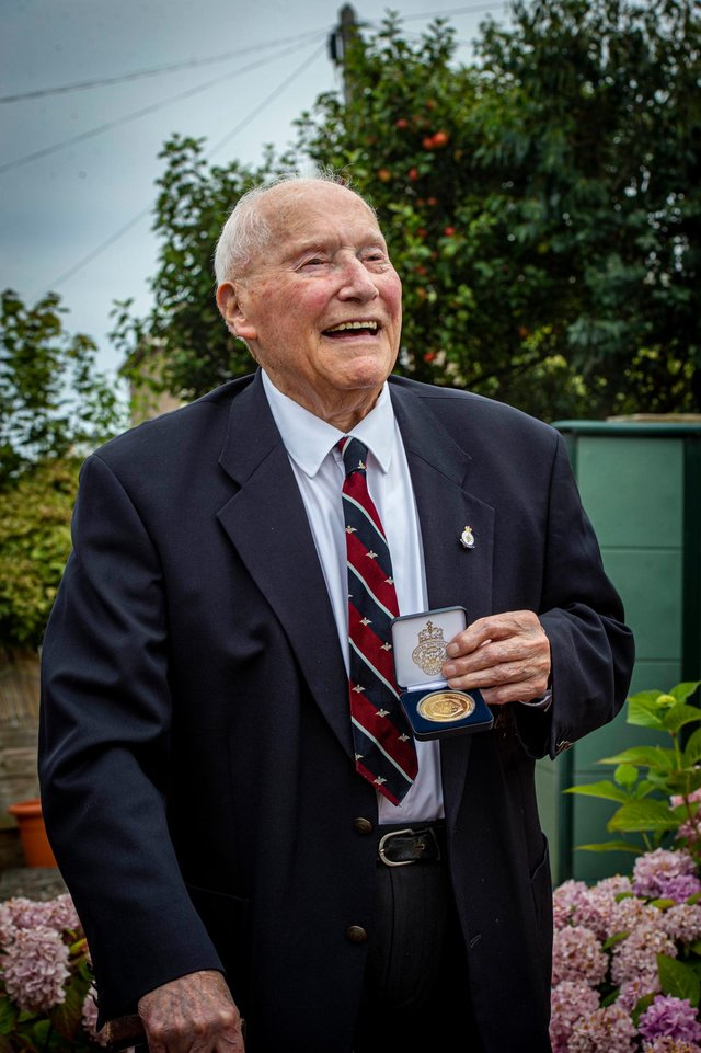"""Veteran Whitson Johnson said he will """"never forget"""" the events of VJ Day. Picture: Mark Owens/Poppyscotland"""