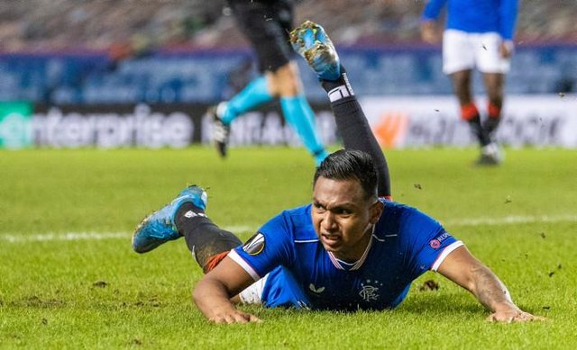 In-form striker Alfredo Morelos has been urged to go flat out for the rest of the season by Rangers manager Steven Gerrard. (Photo by Craig Williamson / SNS Group)