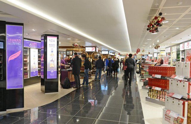 Duty free shops offer 20 per cent off the high street price of alcohol and perfume for international passengers. Picture: Neil Hanna Photography