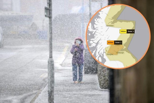 Weather: travel disruptions are likely as Met Office warn of wintry conditions with an amber warning