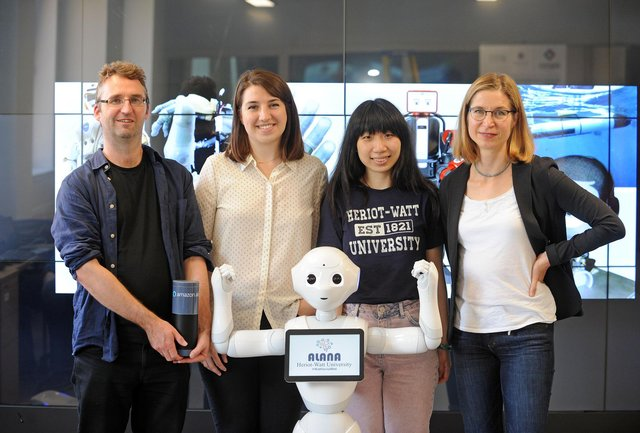 Alana with the founding team at Heriot-Watt University