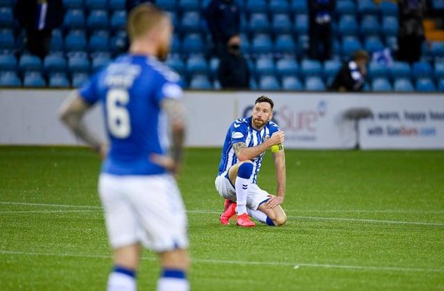 Kilmarnock will be playing in the Championship next season.