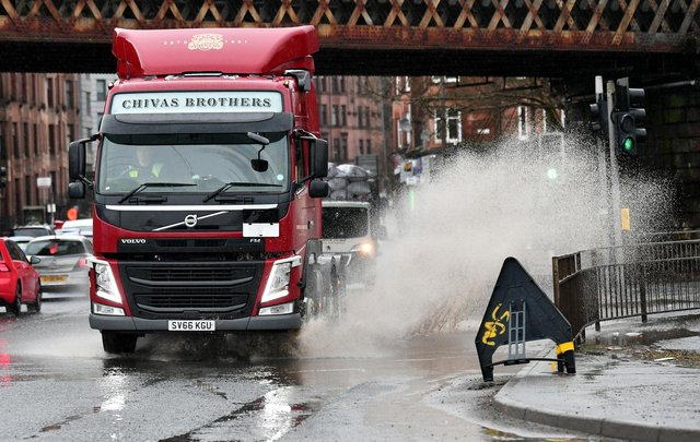 Flooding in Glasgow in Friday. Picture: John Devlin