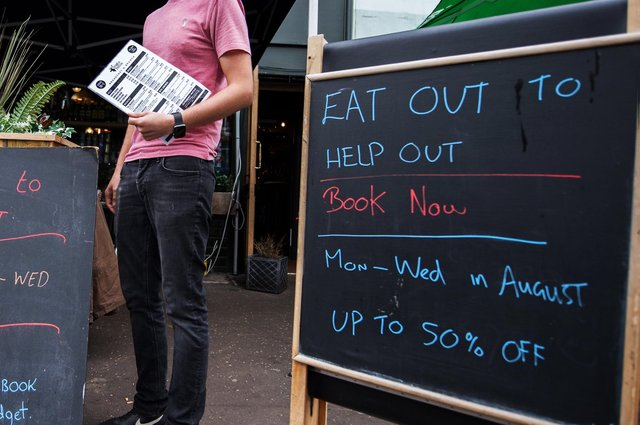 Among the key findings, during the summer Eat Out To Help Out scheme, 48.1 per cent of UK restaurant visits were on Monday, Tuesday or Wednesday. Picture: John Devlin