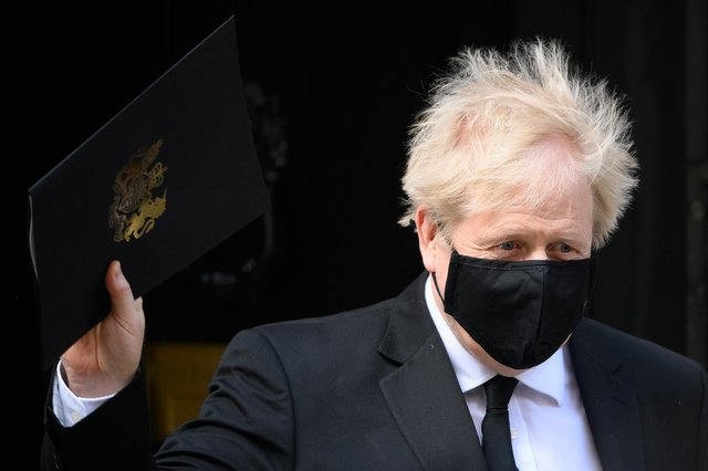 Prime Minister Boris Johnson leaves Number 10 Downing Street. Picture: Leon Neal/Getty Images