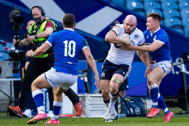 Dave Cherry scored two tries on his first start for Scotland, against Italy in March. Picture: Ross Parker/SNS