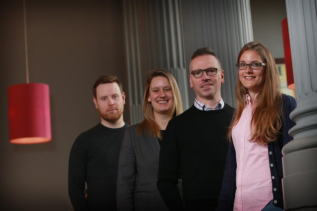 From left: Colin Hewitt of Float, Eleanore Irvine of Biogelx, Steve Ewing and Susanne Mitschke of Citruslabs. Picture: Stewart Attwood.